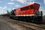 Rear of CDOT/Metro North New Haven Painted Locomotive 127